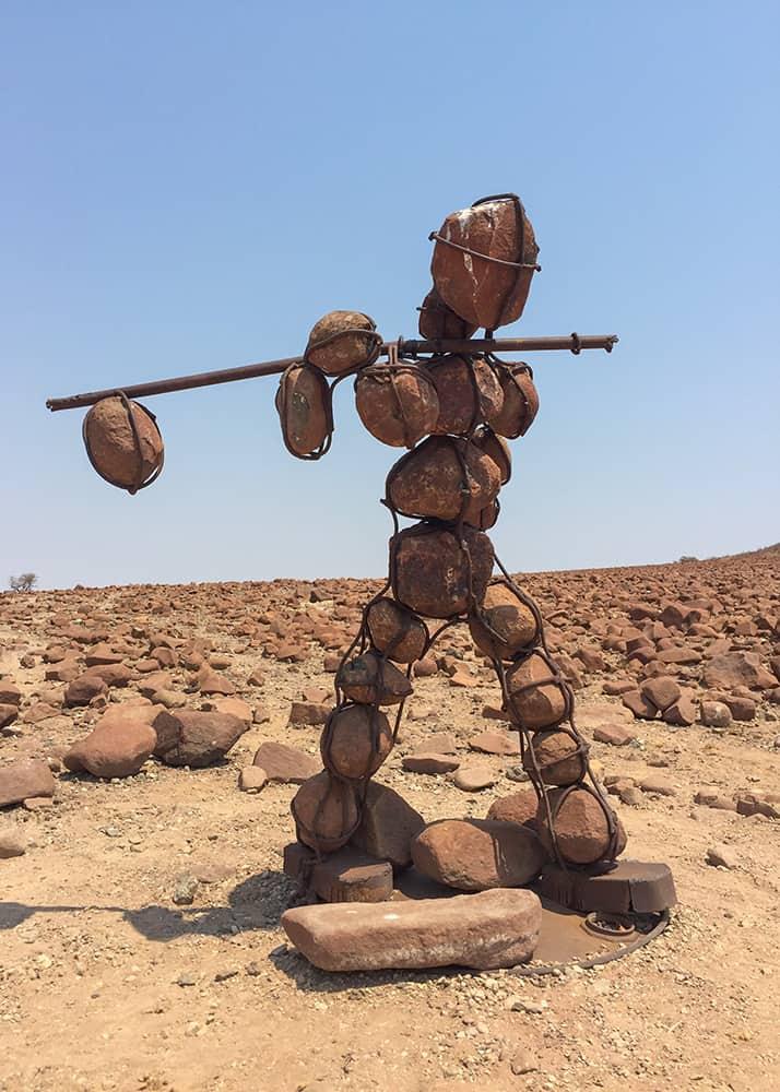 The lone stonemen of the kaokoland