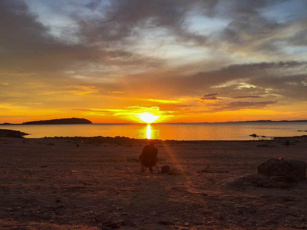 Sonnenuntergang in Siavonga