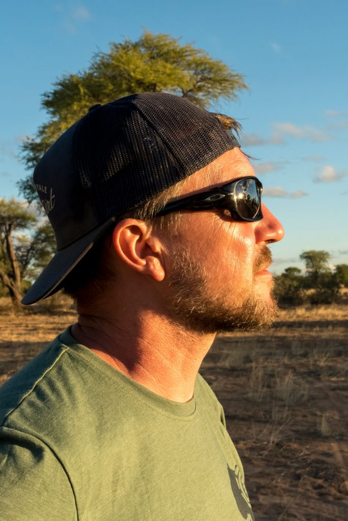 Reto in der Kalahari